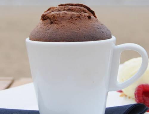 Pure chocolade soufflé