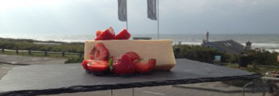 Cheesecake witte chocolade Bries Noordwijk
